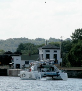 Lock 14 and Boat